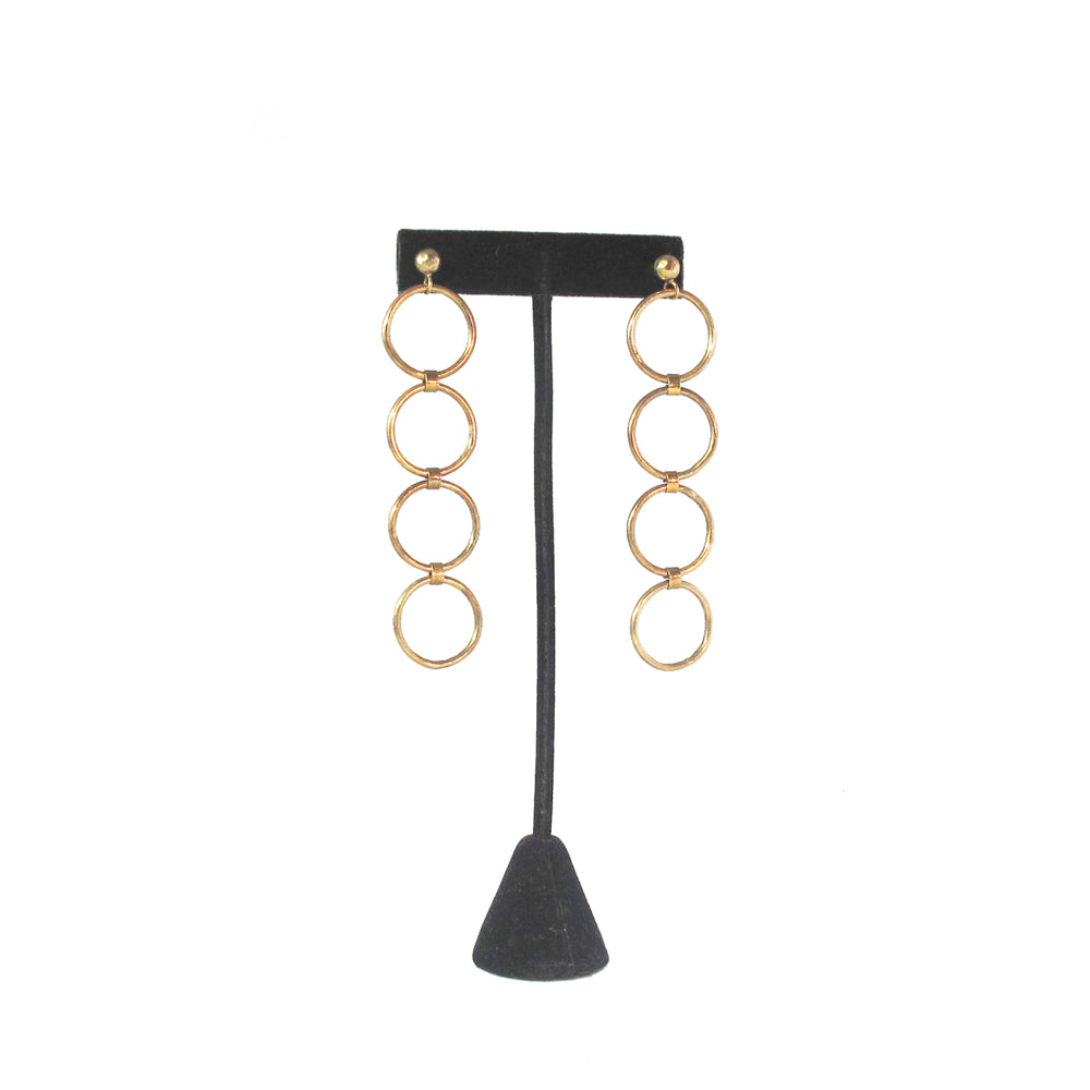 Patricia Field Signature Collection Gold Plated 4 Hoop Earrings