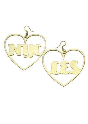 Large Personalized Heart Hoop Earrings