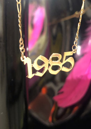 Birth Year Plate Necklace