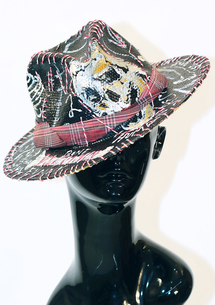 'Human Remains' Painted Fedora