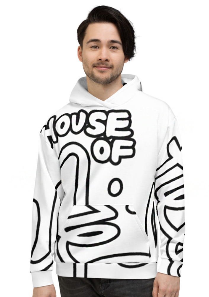 House of Field Logo Hoodie - White
