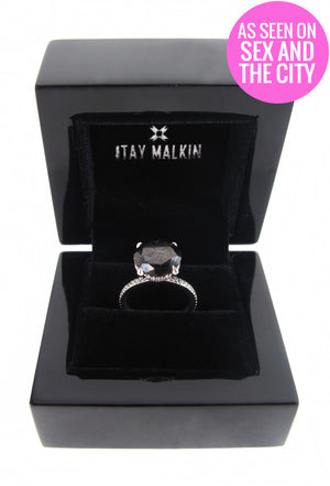 Carrie's Black Diamond Engagement Ring <Special Order Item>