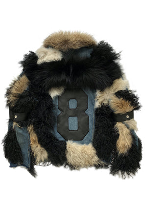 Daddy's Fur, Leather, Laced and Denim Jacket