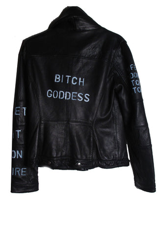 Suzanne Mallouk 'Bitch Goddess' Genuine Leather Jacket