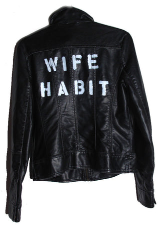 Suzanne Mallouk 'Wife Habit' Genuine Leather Jacket - IMMEDIATE DELIVERY SIZE L