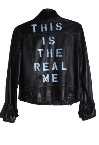 "Suzanne Mallouk 'This is the Real Me"" Genuine Leather Jacket - IMMEDIATE DELIVERY SIZE M"