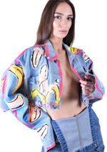 Banana Denim Crop Jacket