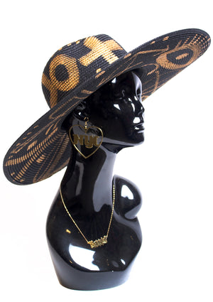 'Golden Lady' Painted Sun Hat