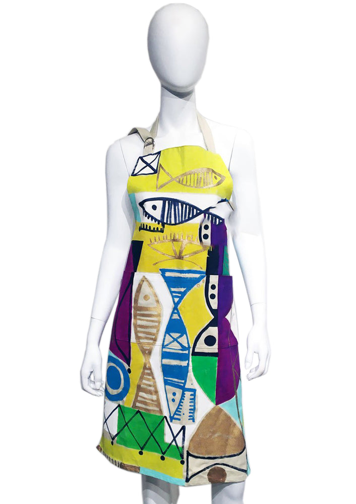 Custom Abstract Morlock Apron 04