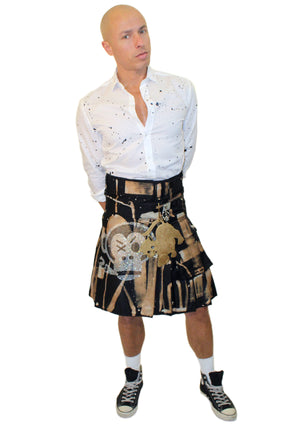 Black Men's Kilt