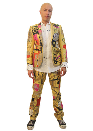 Canary Abstract Suit