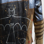 Glitter Horus Leather Jacket