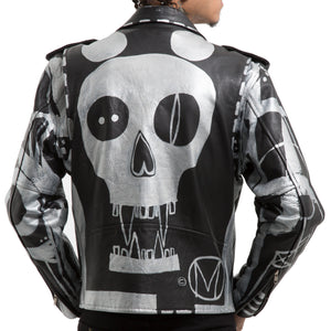 Skull Mouse Leather MC Jacket