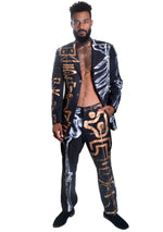 'HALF SKELETON' Painted Men's Suit