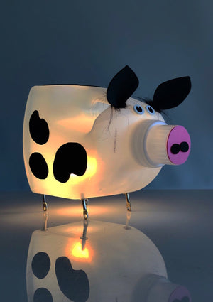 2% Milk Cow Lamp