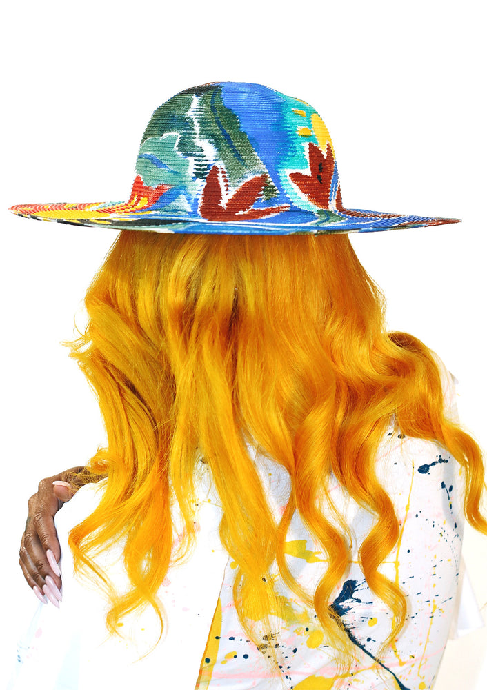 'Tropical Flora' Painted Hat