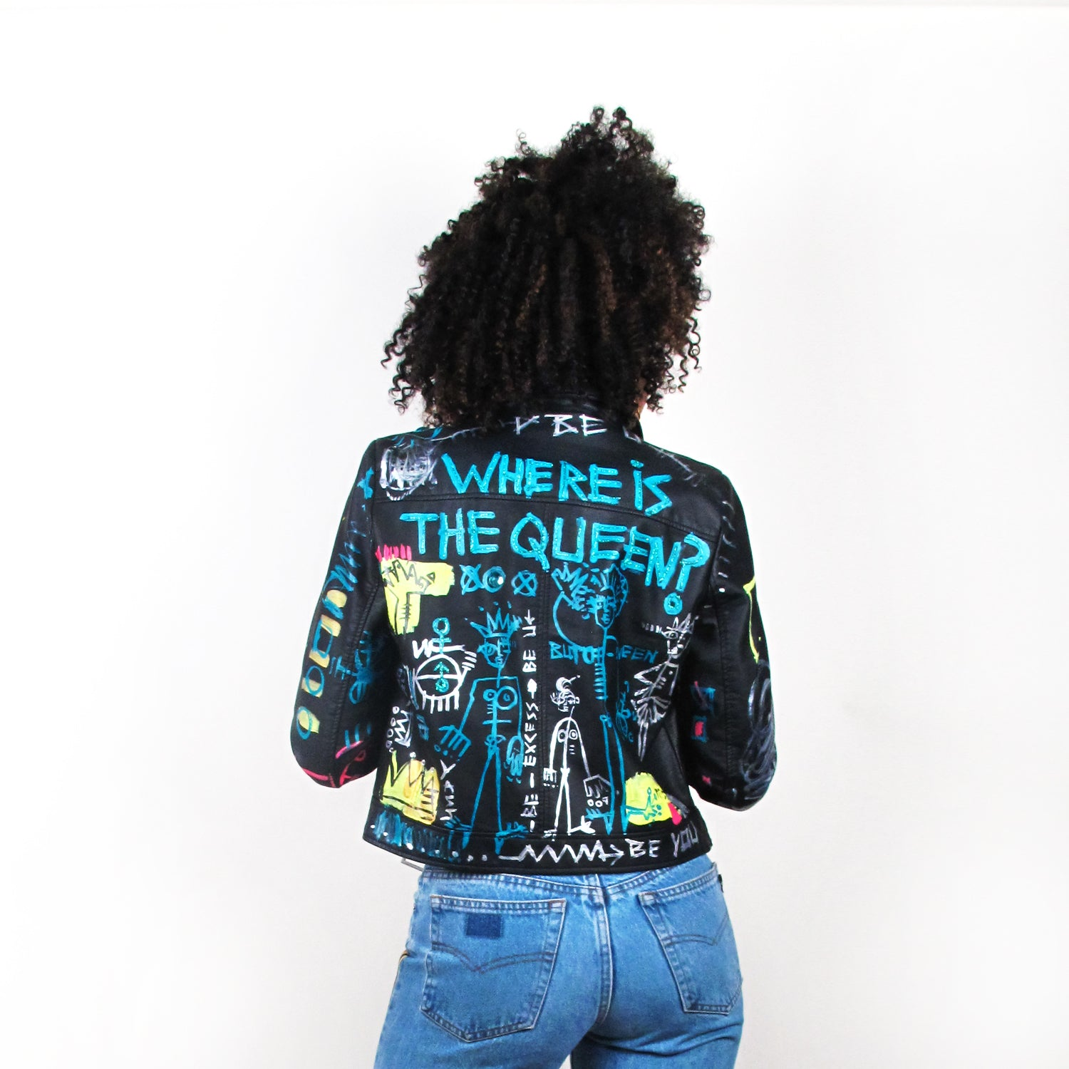 Where Is The Queen? Vegan Leather Jacket
