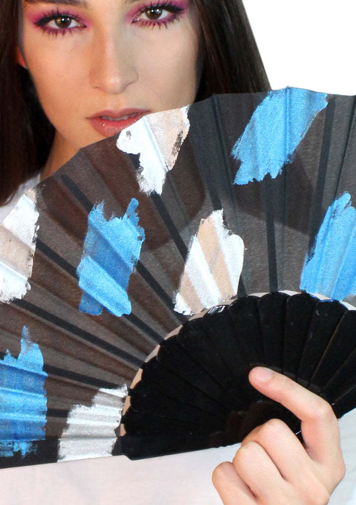 Blue Painted Fan