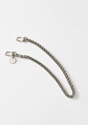 Silver Lara Mini Face Mask Chain