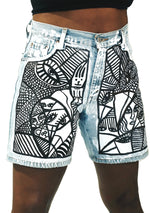 Many Faces Denim Shorts