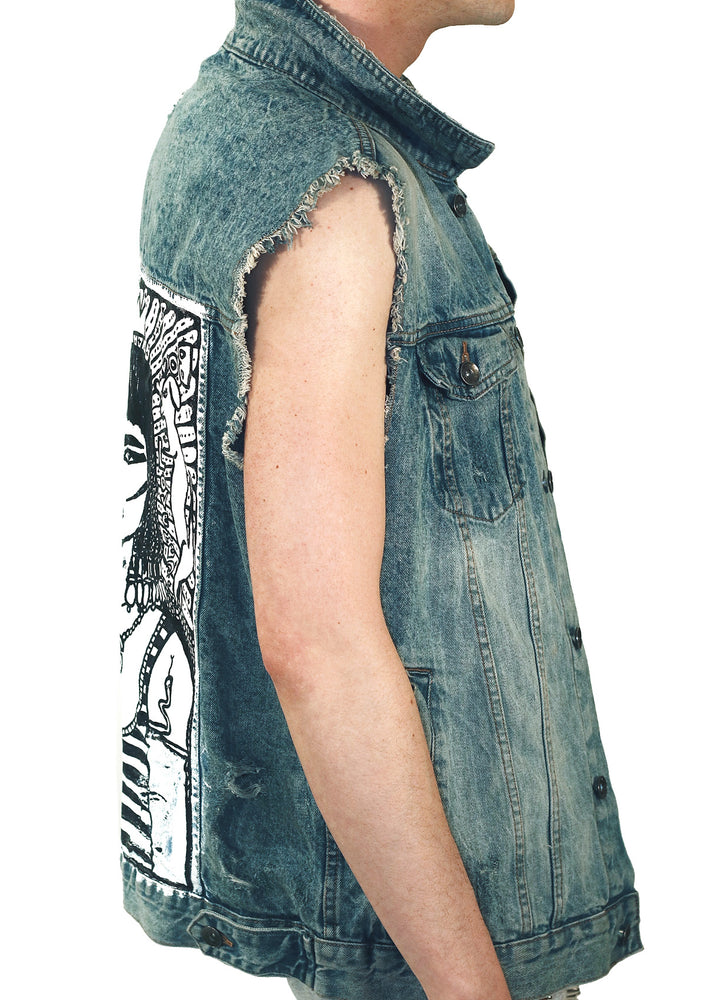 Queen of Kings Denim Vest