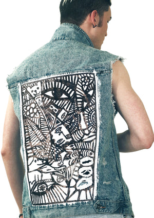 Many Faces Denim Vest