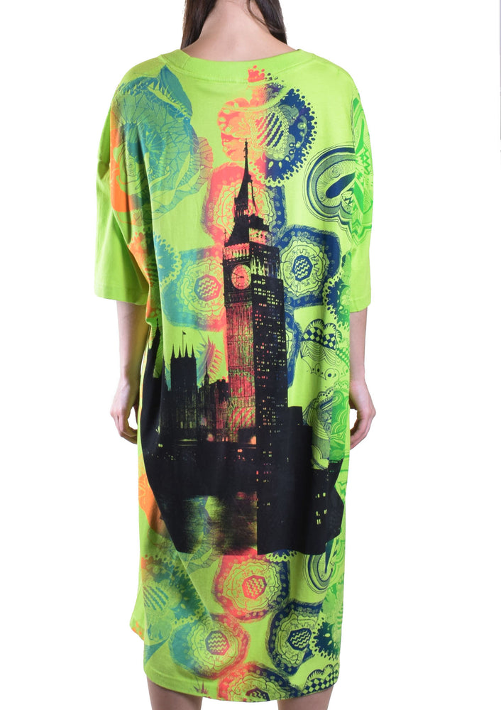 Colorful Diana Green Long Tee