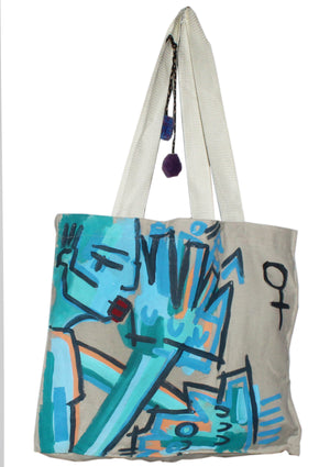 Sing the Blues Canvas Tote