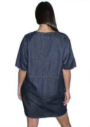 "'50 FOOT WOMAN"" MM6 Denim Dress"