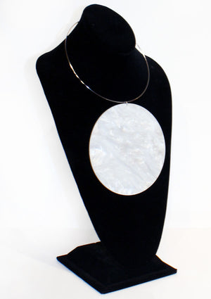 Marble Disc Pendant Necklace