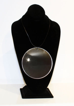 Mirror Pendant Necklace