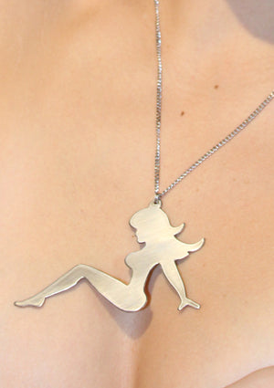 Classic Mudflap Girl Necklace - Silver