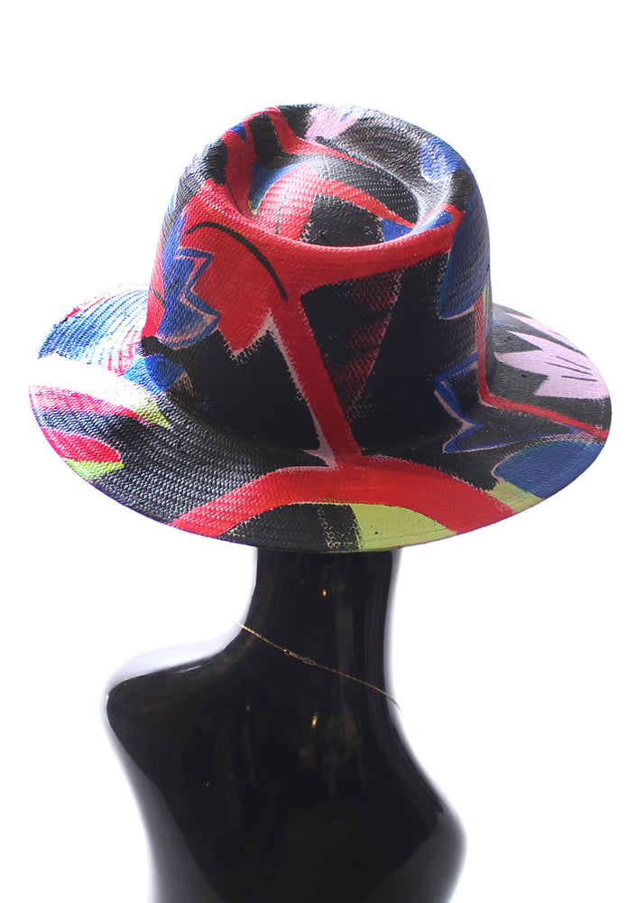 'Foliage' Painted Fedora