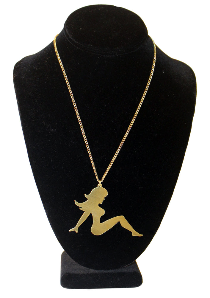 Classic Mudflap Girl Necklace - Gold