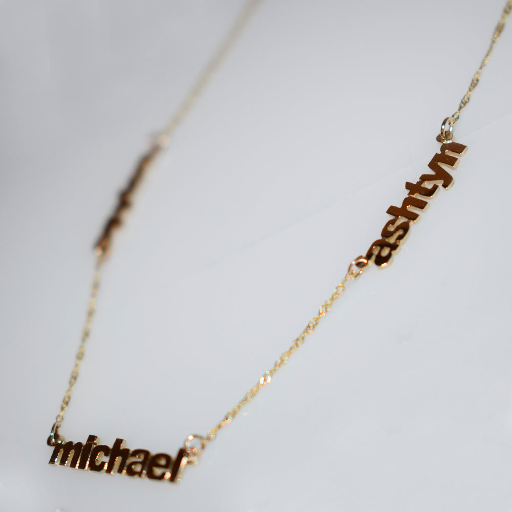 Gold Plated 'All My Children' Necklace