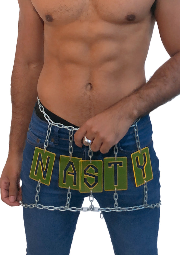 'NASTY' Chain Skirt