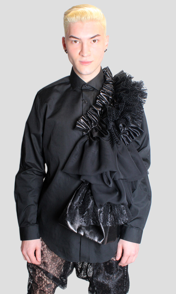 DOPE Ruffle Top in Black