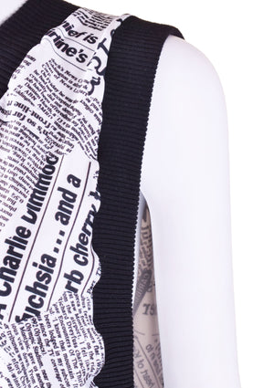 DOPE Newspaper Print Jumper