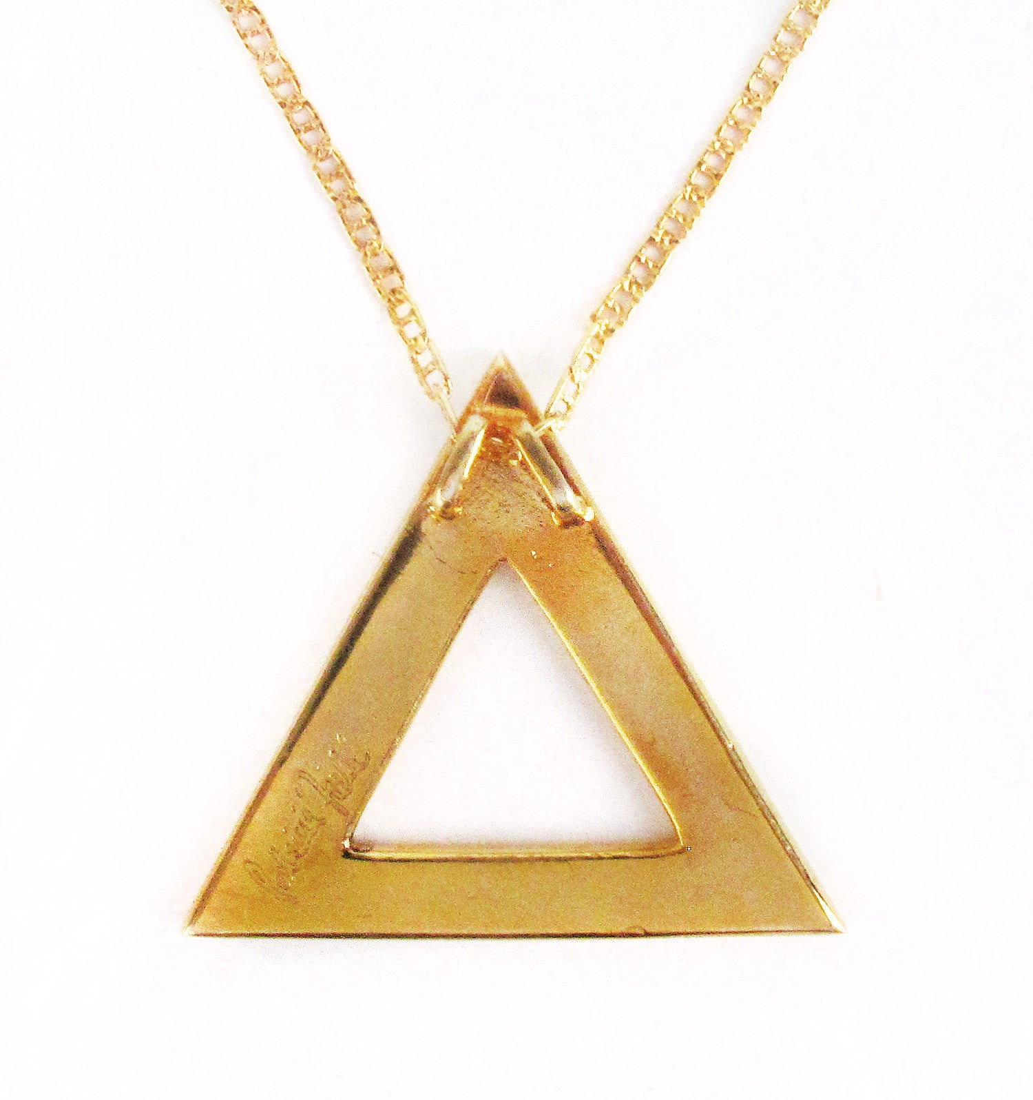 Gold Plated Patricia Field EYE SEE YOU Pyramid Necklace
