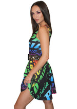 Rainbow Logo Skater Dress
