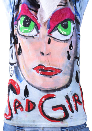 Prettiest SAD GIRL Ever Sequin Tee