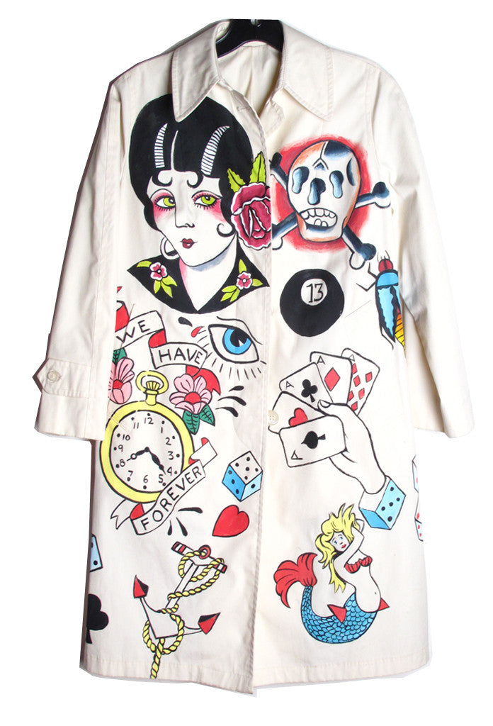 SUZAN PITT 'TATTOO' Trench Coat