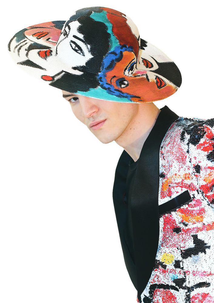 'Faces' Painted Hat