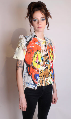 Clown Denim Vest