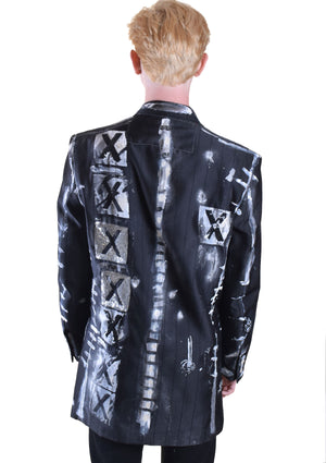 Sequined XXXX Painted Jacket