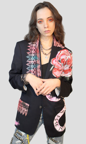 Rose is a Rose Lace Blazer