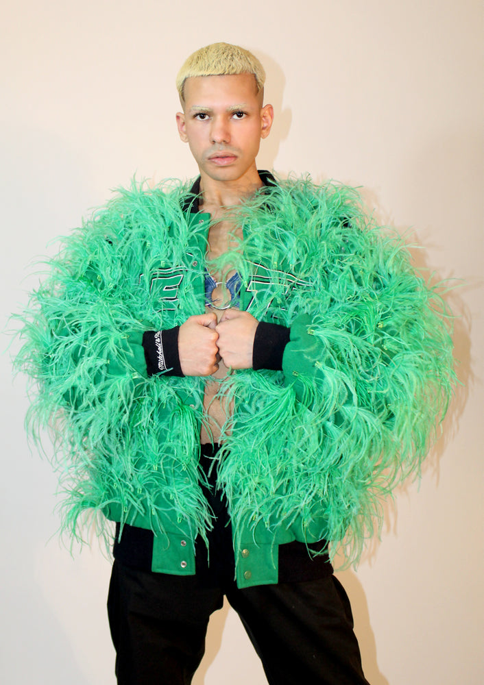 Green Feather Athletic Jacket