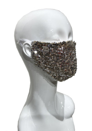 Sequin Mask - Champagne