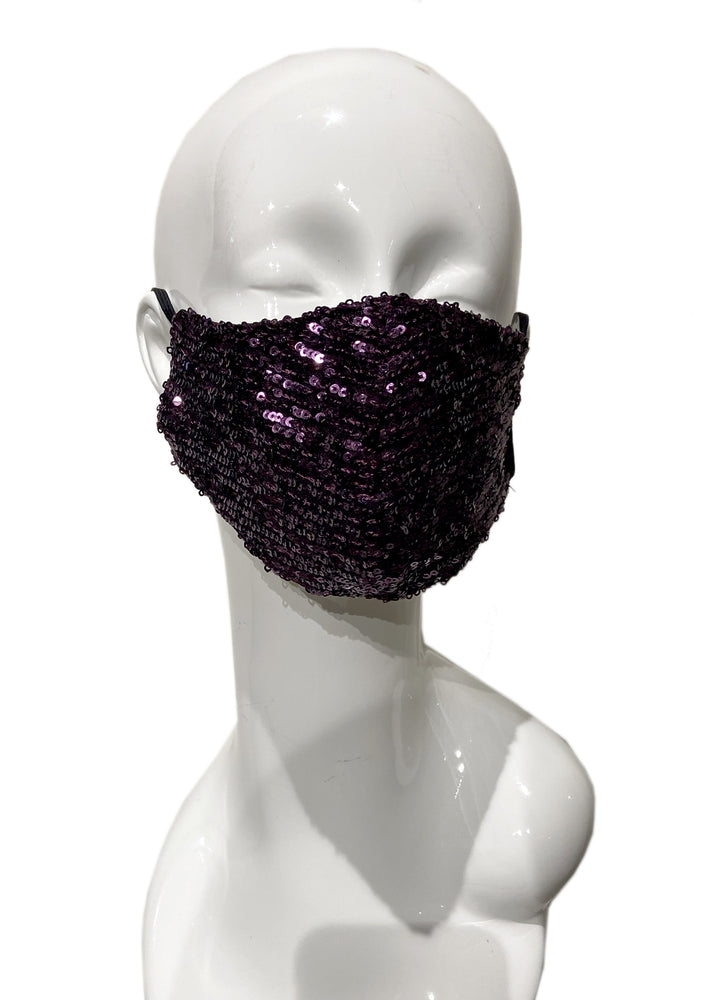Sequin Mask - Purple