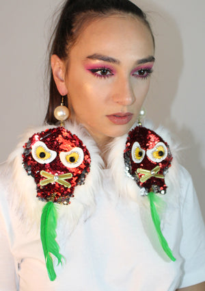 Speak No Evil Feather Earrings